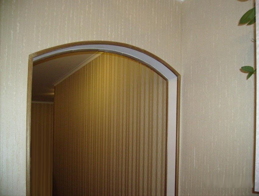 Пластиковый уголок для арки фото